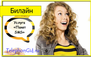 Услуга Билайн «Пакет SMS»