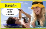 Услуга Билайн «SMS-группы»