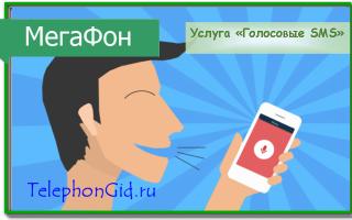 Услуга Мегафон «Голосовое СМС»