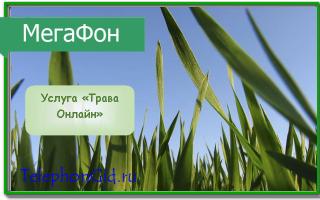 Услуга «Трава Онлайн» Мегафон