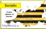 Услуга Билайн «Звонки по России»