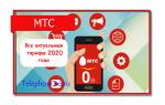 Все актуальные тарифы 2020 года МТС