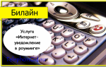 Услуга Билайн «Интернет-уведомление в роуминге»