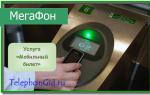 Услуга «Мобильный билет» Мегафон