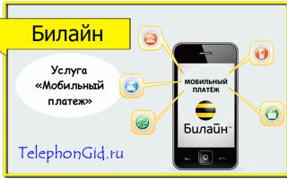 Услуга Билайн «Мобильный платеж»