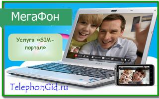 Услуга «SIM портал» Мегафон