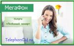Услуга Мегафон «Любимый номер»