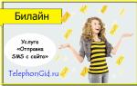 Услуга Билайн «Отправка SMS с сайта»