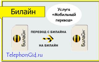 Услуга Билайн «Мобильный перевод»
