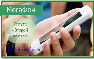 Услуга Мегафон «Второй номер»