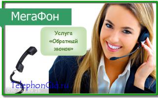 Услуга Мегафон «Обратный звонок»