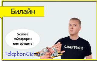 Услуга Билайн «Смартфон для эрудита»