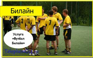 Услуга «Футбол Билайн»