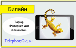 Тариф Билайн «Интернет для планшета»