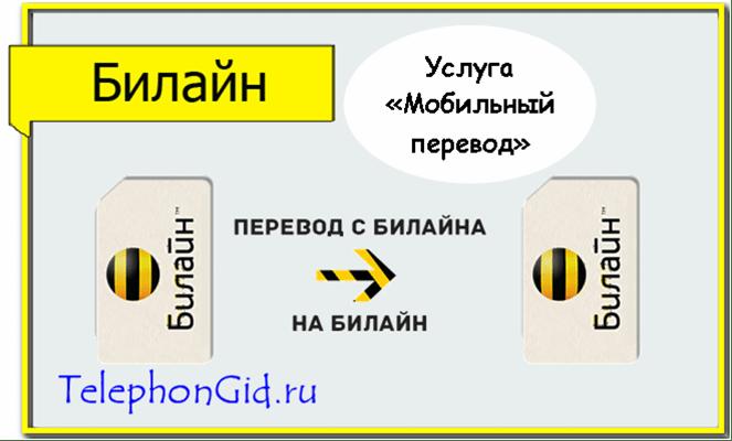 Мобильный перевод Билайн