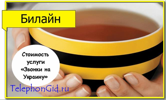 услуга Звонки на Украину Билайн