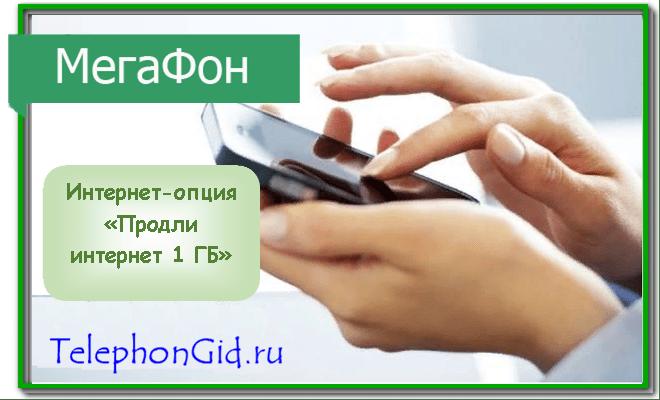 опция Продли интернет 1 ГБ Мегафон