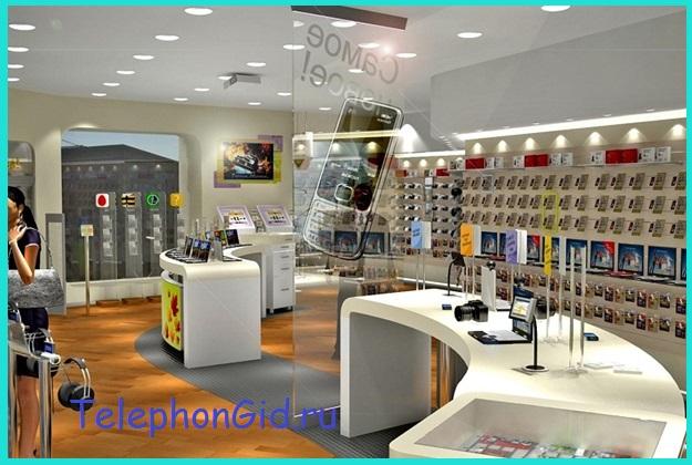 покупка телефона в салоне сотовой связи