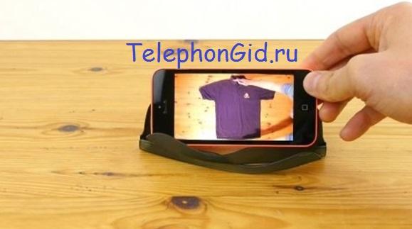 подставка под телефон с помощью очков