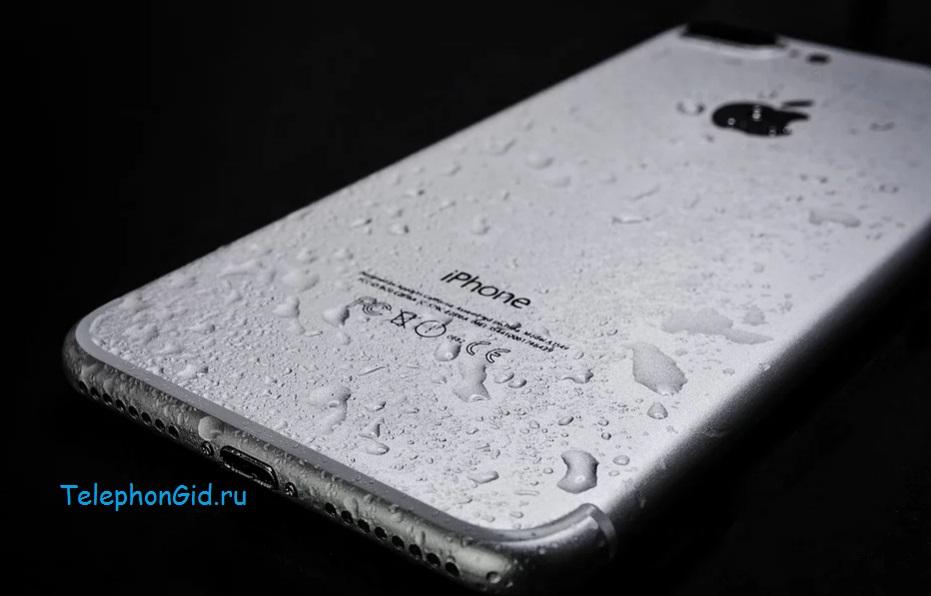 вода и айфон