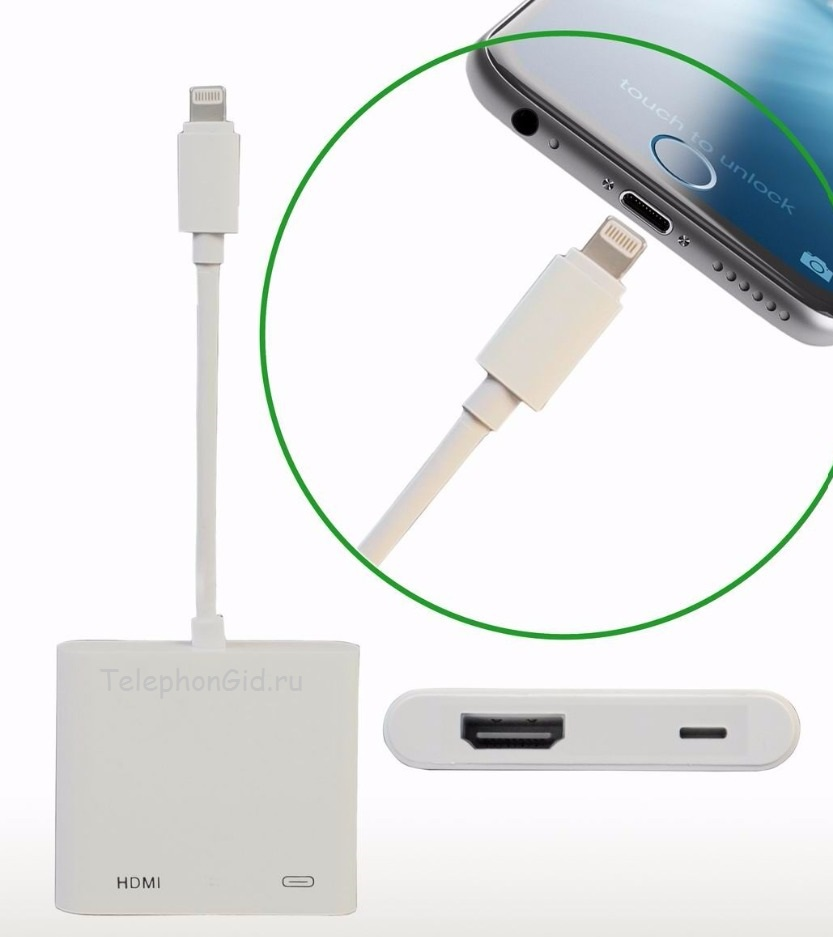 Подключение айфона к телевизору через USB разъем