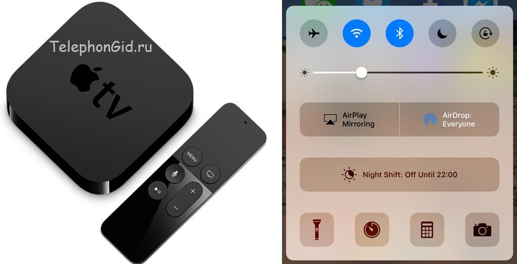 Подключение айфона к телевизору с помощью приставки Apple TV